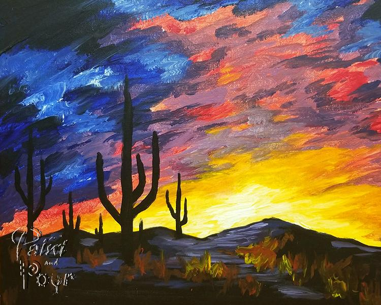 Cactus Sunset (3hr)