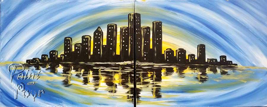 Detroit Skyline (Couples)