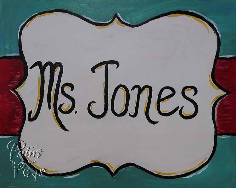 Custom Name Placard