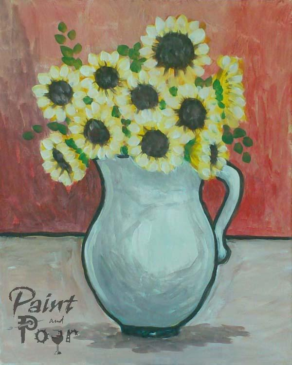 Sunflowers-in-Vase