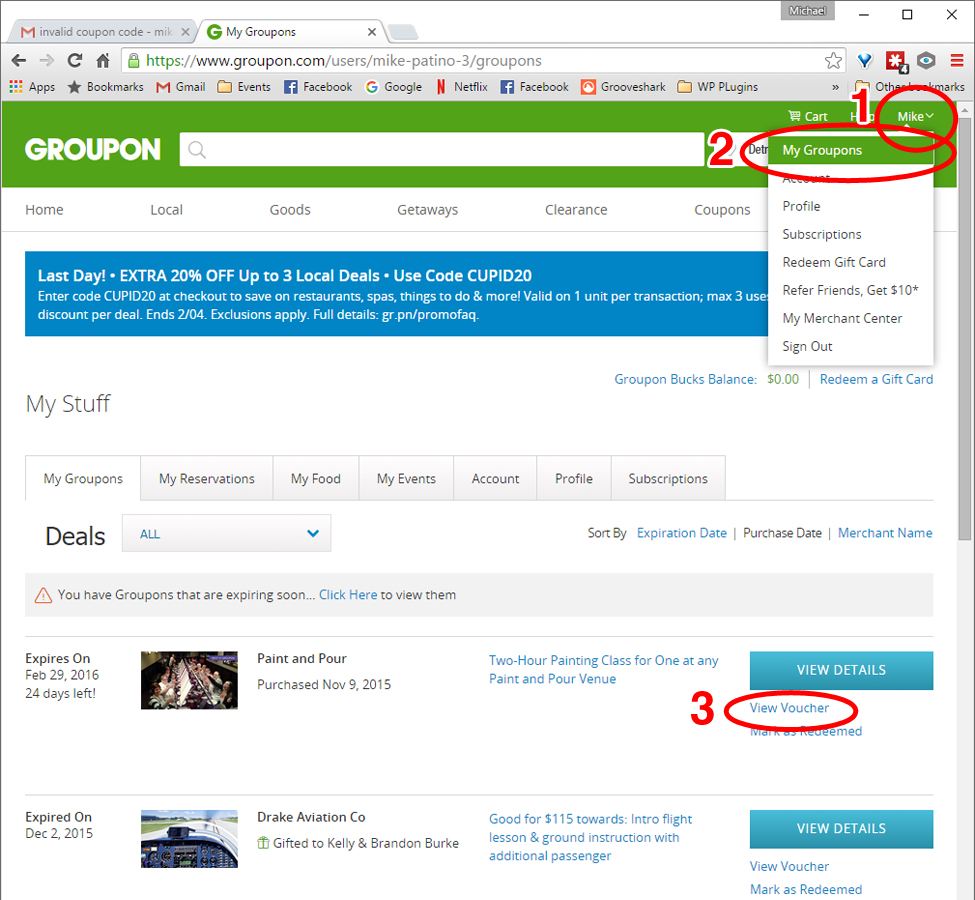 how to use a voucher groupon reschedule or similar