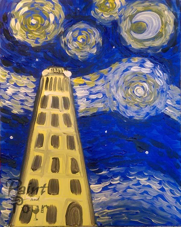 Starry Night at the Bell Tower